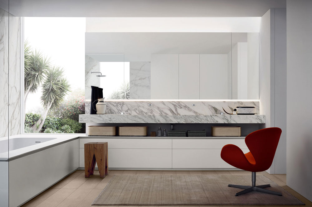 Zona bagno milldue habitat casa - Bagno designer lissone ...