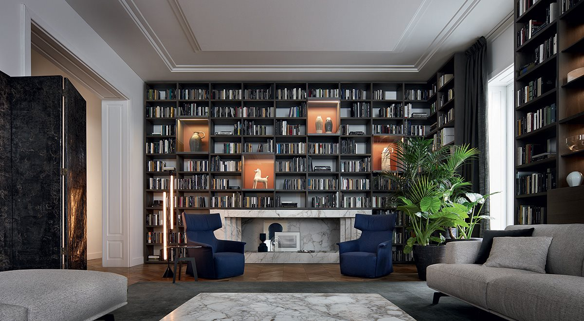 Poliform Soggiorno | Librerie, tavoli, Divani Poliform di Habitat Casa