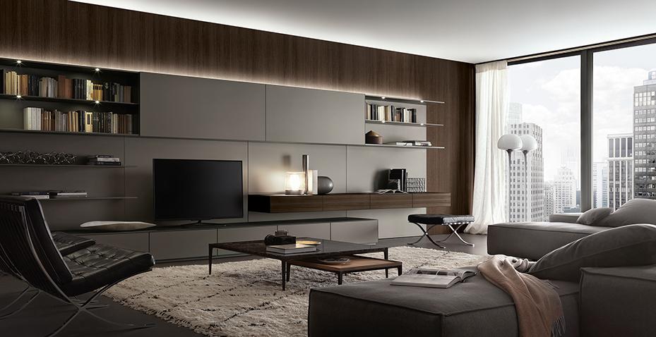Soggiorni lissone habitat casa soggiorni poliform for Disposizione soggiorno